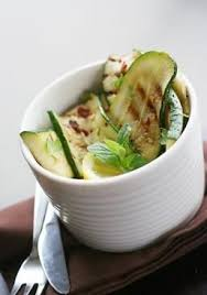 Insalata broccoli zucchine e olive