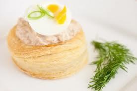 Mousse salata e crema di ricotta