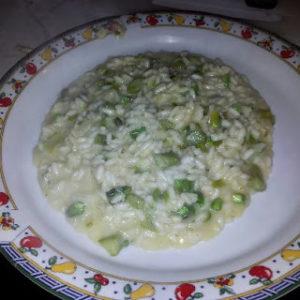 Risotto asparagi e gorgonzola