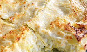 I primi: lasagne bianche ai porri