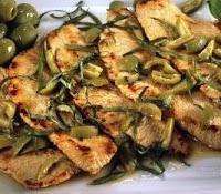 Fesa di tacchino alle olive verdi