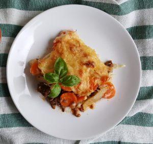 Terrina di carote con formaggio e uova