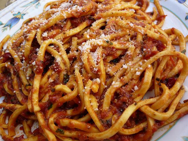 Spaghetti alla chitarra all'abruzzese
