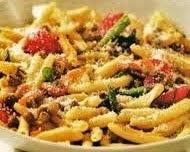 Garganelli alla zingara con pancetta e verdure