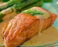 Salmone al cartoccio in salsa di yogurt