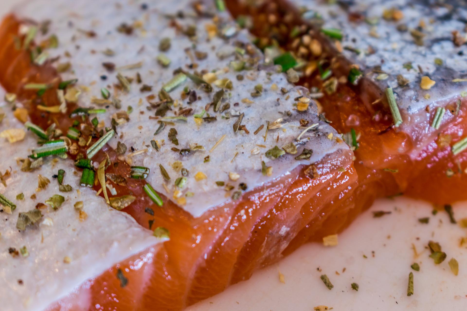 Bocconcini di salmone allo zenzero
