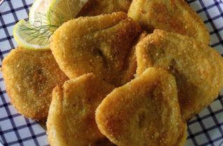 Finocchi dorati fritti